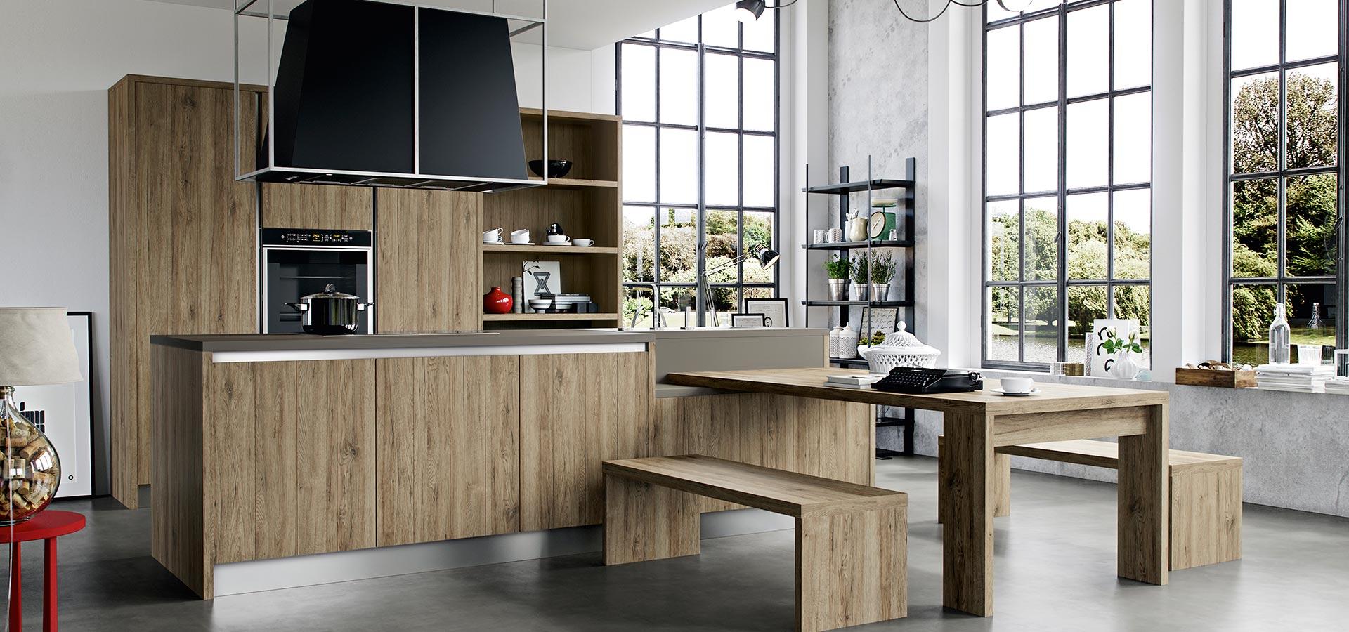 L 39 effetto legno in cucina abbatte i costi e sembra legno for Rivenditori arredo 3