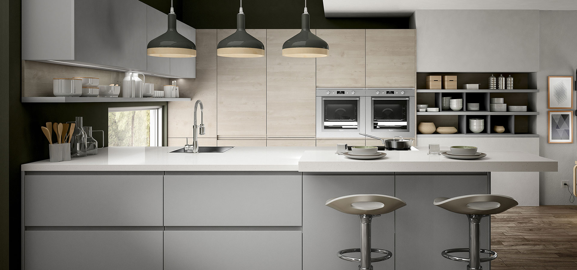 Cucine moderne arredo3 i 5 modelli da non perdere blog - Cucina senza maniglie ...