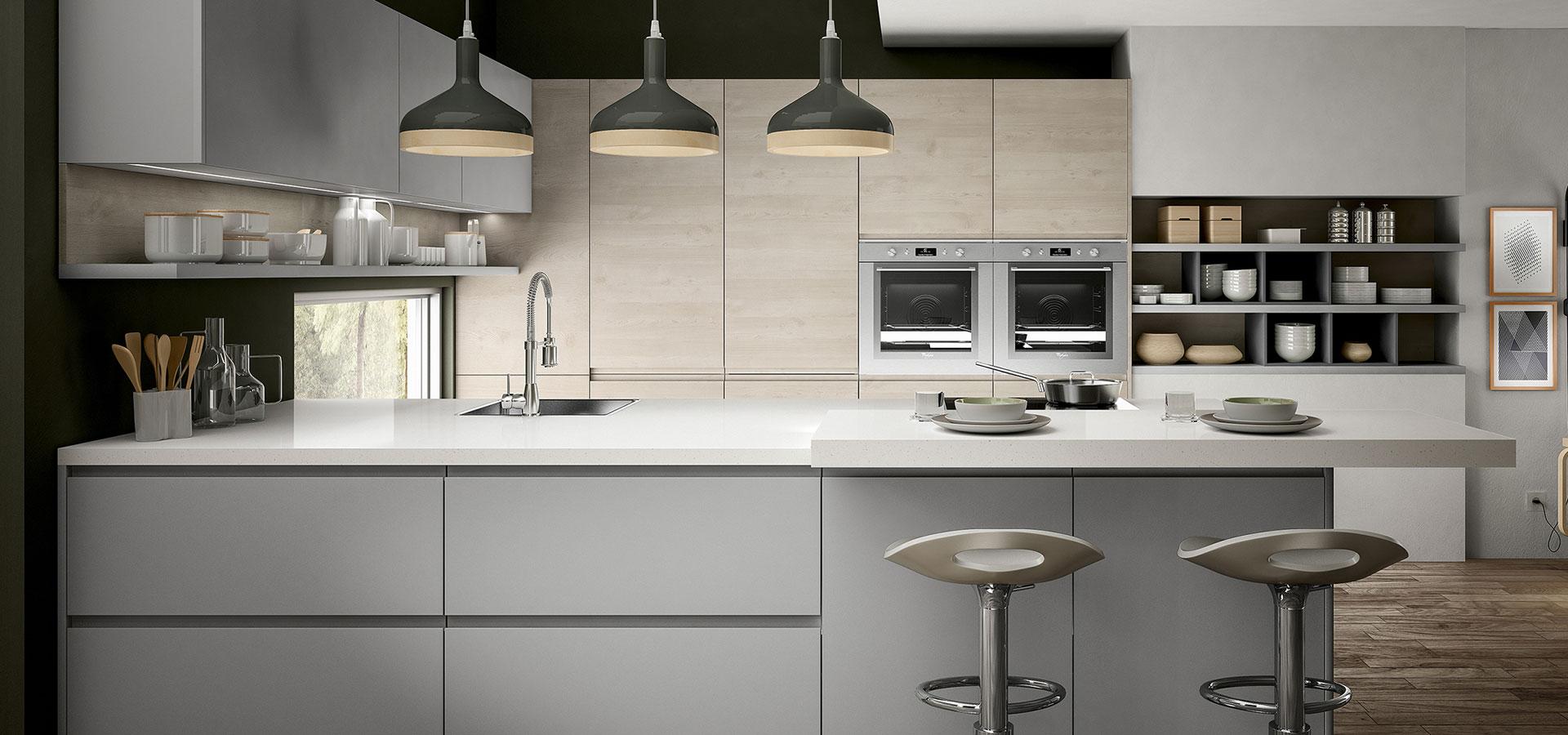 Cucina senza maniglia belle pratiche e di tendenza blog design 360 roma - Cucina senza maniglie ...