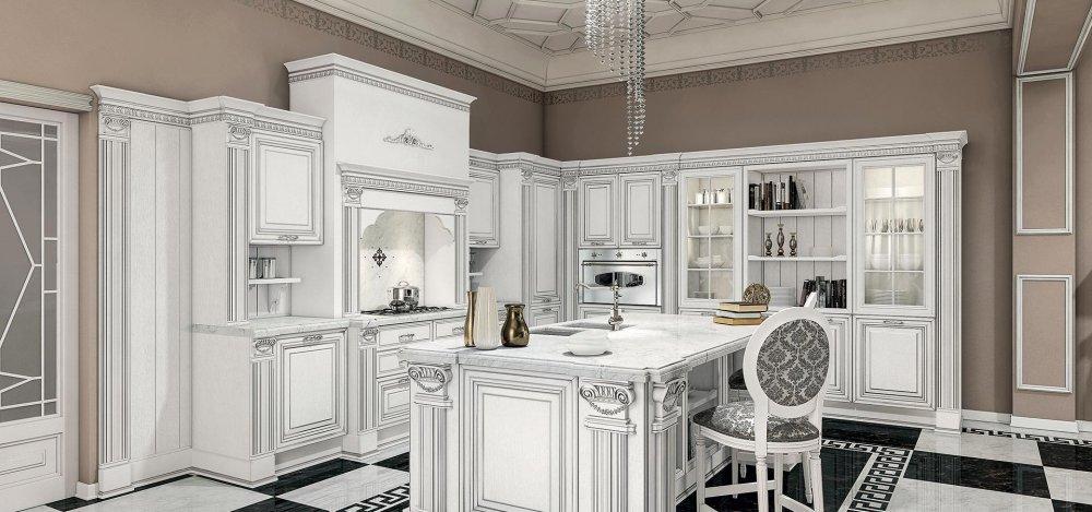 Viktoria cucine classiche cucine componibili design 360 roma - Cucine classiche roma ...