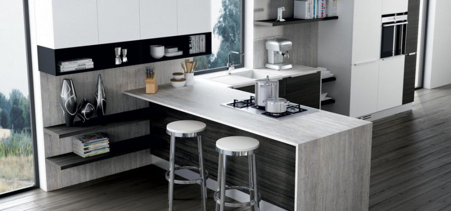 Moon diva duna cucine moderne cucine componibili design 360 roma - Cucine grigio perla ...
