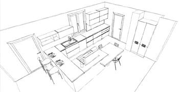 Cucine su misura e arredamento di design a roma for Progettazione arredamento 3d
